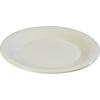 "Carlisle Sierrus Melamine Wide Rim Dinner Plate 10.5"" - Bone CFS 3301042CS"