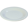 "Carlisle Sierrus Melamine Wide Rim Dinner Plate 9"" - White CFS 3301202CS"