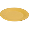 "Carlisle Sierrus Melamine Wide Rim Dinner Plate 9"" - Honey Yellow CFS 3301222CS"