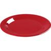 """Carlisle Sierrus Melamine Wide Rim Salad Plate 7.5"""" - Red CFS 3301605CS"""