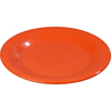 "Carlisle Sierrus Melamine Wide Rim Dinner Plate 12"" - Sunset Orange CFS 3302452CS"