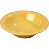 Carlisle Sierrus Melamine Rimmed Bowl 12 oz - Honey Yellow CFS 3303622CS
