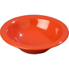 Carlisle Sierrus Melamine Rimmed Bowl 12 oz - Sunset Orange CFS 3303652CS