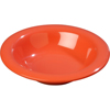 Carlisle Sierrus Melamine Rimmed Bowl 9 oz - Sunset Orange CFS 3304052CS