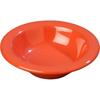 Carlisle Sierrus Melamine Rimmed Fruit Bowl 4.5 oz - Sunset Orange CFS 3304252CS