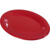 "Sierrus Melamine Oval Platter Tray 12"" x 9"" - Red"