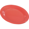 "Sierrus Melamine Oval Platter Tray 12"" x 9"" - Sunset Orange"