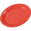"Sierrus Melamine Oval Platter Tray 9.5"" x 7.25"" - Sunset Orange"