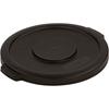 Carlisle Bronco Round Waste Bin Food Container Lid 10 Gallon - Black CFS 34101103CS