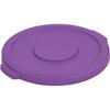Carlisle Bronco Round Waste Bin Food Container Lid 10 Gallon - Purple CFS 34101189CS