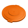 Carlisle 20 Gal Bronco Round Lid - Orange CFS 34102124CS