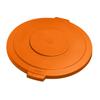 Carlisle 20 Gal Bronco Round Lid - Orange CFS34102124CS