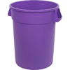 Carlisle Bronco Round Waste Bin Trash Container 32 Gallon - Purple CFS 34103289CS