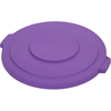 Carlisle Bronco Round Waste Bin Trash Container Lid 32 Gallon - Purple CFS 34103389CS
