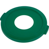 Carlisle Bronco™ Round Green Recycling Lids with Hole for Cans CFS 341033REC09CS