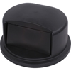 Carlisle Bronco Round Waste Container Dome Lid With Hinged Door 32 Gallon - Black CFS 34103403CS