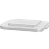 Carlisle 40 Gal Bronco Square Lid - White CFS 34154102CS