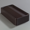 Carlisle TrimLine Rectangle Swing Top Waste Container Trash Can Lid 15 and 23 Gallon - Chocolate CFS 342024-869CS
