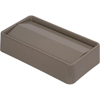 Carlisle TrimLine Rectangle Swing Top Waste Container Trash Can Lid 15 and 23 Gallon - Beige CFS 34202406CS