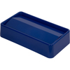 Carlisle TrimLine Rectangle Swing Top Waste Container Trash Can Lid 15 and 23 Gallon - Blue CFS 34202414CS