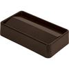 Carlisle TrimLine Rectangle Swing Top Waste Container Trash Can Lid 15 and 23 Gallon - Dark Brown CFS 34202469CS
