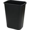 Carlisle Office Wastebasket 13 Qt - Black CFS 34291303CS