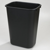Carlisle Wastebasket 41-1/4 qt - Black CFS 34294103CS