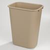 waste basket: Carlisle - Wastebasket 41-1/4 qt - Beige