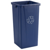 Carlisle Centurian™ Tall Square Recycle Container CFS 343523REC14CS