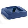 Carlisle 23 Gal Centurian™ Paper Recycle Lid - Blue CFS 343526REC14CS