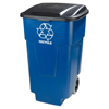 recycling container: Carlisle - 50 gal Recycle Rolling Container