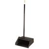 Carlisle Duo-Pan Upright Dustpan w/ Metal Handle  - Black CFS 36141003-1CS