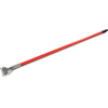 "Carlisle Fiberglass Dust Mop Handle with Clip-On Connector 60"" - Red CFS 36211305CS"
