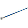 "Carlisle Fiberglass Dust Mop Handle with Clip-On Connector 60"" - Blue CFS 36211314CS"