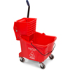 Mops & Buckets: Carlisle - 35 Qt Mop Bucket/Wringer Combo - Red