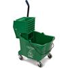 Carlisle Commercial Mop Bucket with Side-Press Wringer 35 Quart - Green CFS 3690409CS