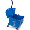 Carlisle 35 Qt Mop Bucket/Wringer Combo - Blue CFS 3690414EA