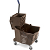 Mops & Buckets: Carlisle - 35 Qt Mop Bucket/Wringer Combo - Brown