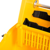 Carlisle Flo-Pac® Commercial Mop Bucket with Down-Press Wringer 35 Quart - Yellow CFS 3690504CS