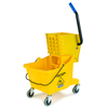 Mops & Buckets: Carlisle - 26 Qt Mop Bucket/Wringer Combo - Yellow