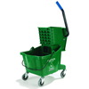 Carlisle 26 Qt Mop Bucket/Wringer Combo - Green CFS 3690809EA