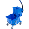 Mops & Buckets: Carlisle - 26 Qt Mop Bucket/Wringer Combo - Blue