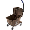 Mops & Buckets: Carlisle - 26 Qt Mop Bucket/Wringer Combo - Brown
