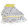 Carlisle Premium Small Natural Yarn Mop Heads with Yellow Band CFS 369412B00CS