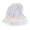 Carlisle Premium Small Natural Yarn Mop Heads with Yellow Band CFS 369413B00CS