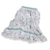 Carlisle Premium Medium Natural Yarn Mop Heads with Green Band CFS 369419B00CS