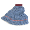 Carlisle Premium Large Blue Yarn Mop Heads with Red Band CFS 369454B14CS