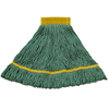 Carlisle Premium Small Yellow Yarn Mop Heads with Green Band CFS 369472B09CS