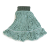 Carlisle Premium Medium Green Yarn Mop Heads with Green Band CFS 369478B09CS