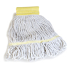Carlisle Economy Small Natural Yarn Mop Heads with Yellow Band CFS369550B00CS